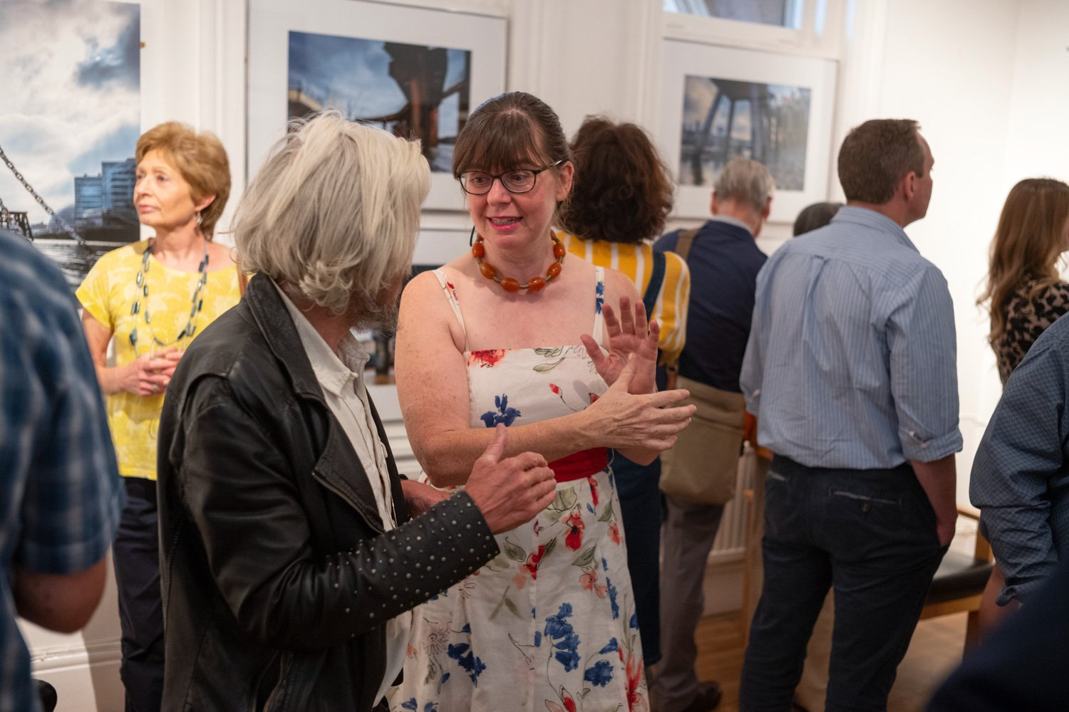 'The River Within – London'. The private view as exhibition opens :-)